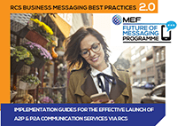 MEF's RCS Business Messaging Best Practices Guidelines V2.0 - May 2020