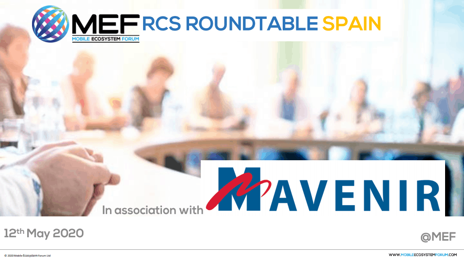 MEF RCS Roundtable Spain - May 2020